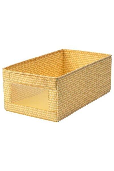IKEA Çocuk Düzenleyici Kutu 25x44x17 Cm Meridyendukkan Sarı Renk Düzenleme Raf Kutusu,katlanabilir