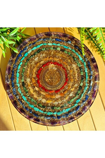 Singincraft Sri-yantra 7çakra Orgonit Dekorasyon Ürünü/yoga Meditasyon