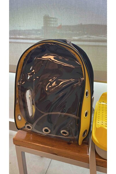Mavi Kaktüs Sarı Siyah Astronot Kırılmaz Şeffaf Kedi Köpek Taşıma Çantası 42 X 22 X 33 cm