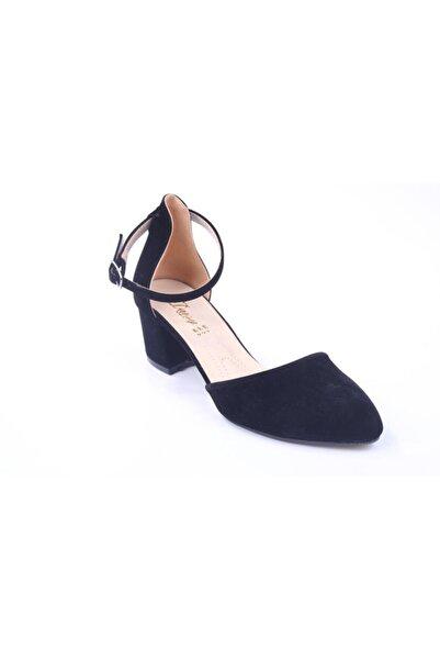 Daisy 983 Kadın 5 Cm Topuk Siyah Süet Ayakkabı