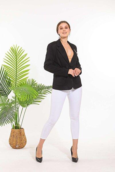 SİSLİNE Kadın Siyah Triko Ceket