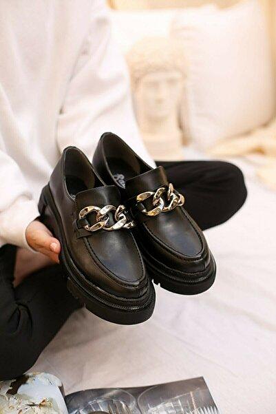 BONİTA MODA Zincir Detaylı Loafer Kadın Ayakkabısı