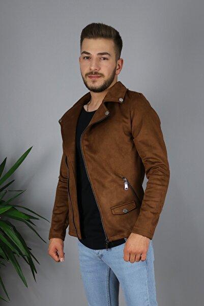 Zoom Erkek Taba Kuzey Model Süet Ceket Mevsimlik