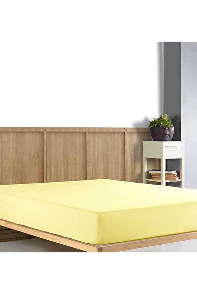 Elart Çift Kişilik Ranfors Fitted Çarşaf Sarı (160x200cm)
