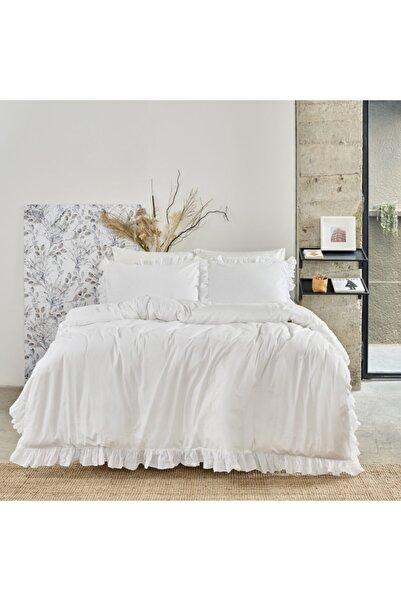 Linens White Collection Casual Çift Kişilik Çarşaf