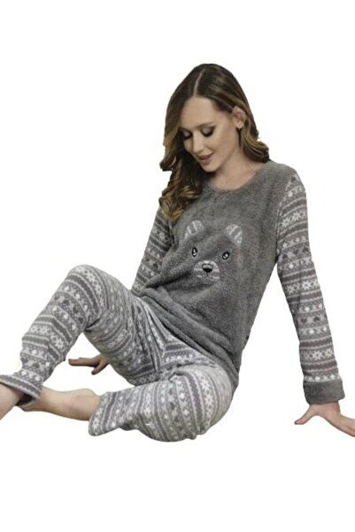 Zirve Welsoft Polar Pijama Takımı 4010 Renk-gri