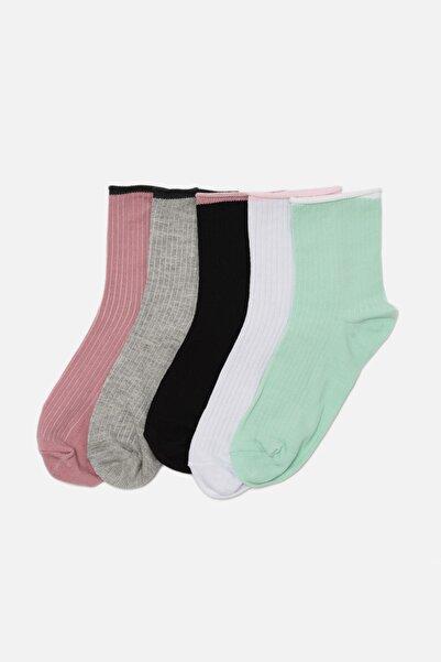 TRENDYOLMİLLA 5'li Paketli Soket Çorap THMAW22CO0056