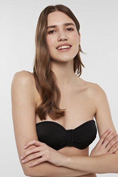 Kadın Siyah Basic Pop Bikini Üstü