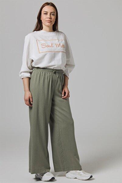 Doque Yeşil Kadın Pantolon