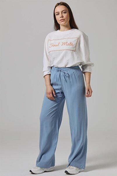 Doque Mavi Kadın Pantolon