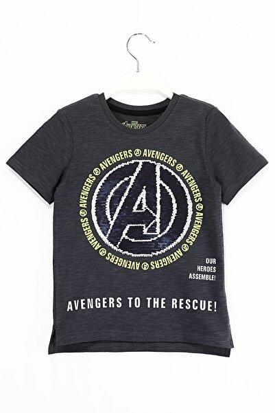 MARVEL Çift Yönlü Pul Payetli Avengers Erkek Çocuk T Shirt