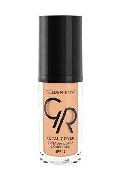 Golden Rose 2'si 1 Arada Fondöten & Kapatıcı - Total 2 in 1 Foundation & Concealer No:7 8691190963675