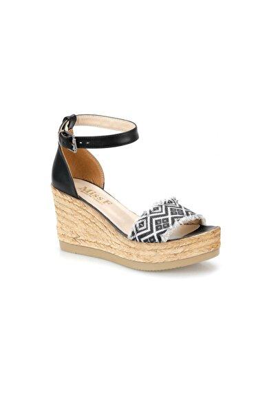 Miss F DS19122 Siyah Kadın Sandalet
