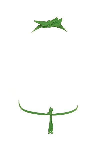 Yeşil Aksesuar Detaylı Bikini Üstü TBESS20BU0372