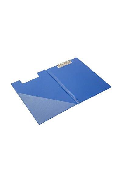 KRAF A4 Kapaklı Sekreterlik  Dosyası Üstten Klipsli Mavi
