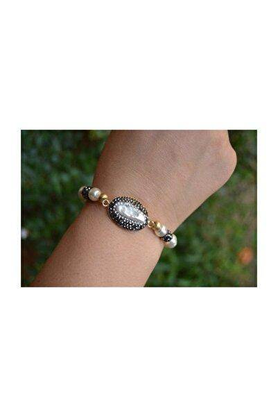 Stoneage Jewellery Incili El Yapımı Bileklik