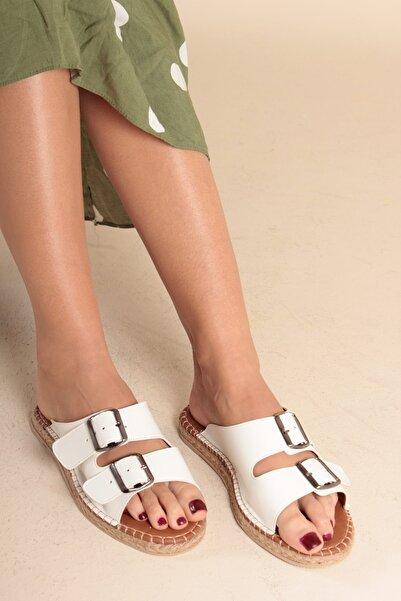 İnan Ayakkabı Beyaz Kadın Sandalet INA1222