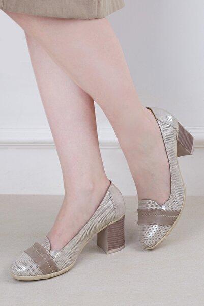 Mammamia D20ya-3115 Kadın Hakiki Deri Ayakkabı Vizon