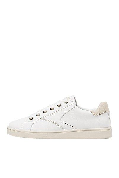 Stradivarius Kadın Beyaz Topuk Parçası Detaylı Spor Ayakkabı 19006570