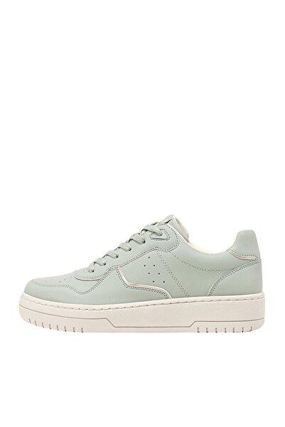 Kadın Su Yeşili Şeritli Spor Ayakkabı 19002570
