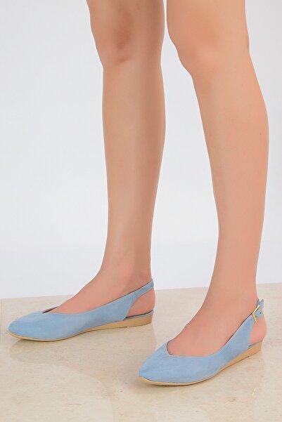 Shoes Time Mavi Süet Kadın Sandalet 20Y 900