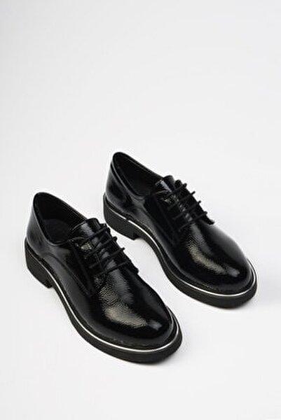 Siyah Rugan Kadın Terva Günlük Oxford Ayakkabı 19K0140MC5040