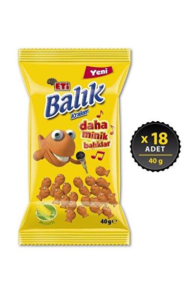 Eti Balık Kraker Mini Mısırlı 18 X 40 Gr