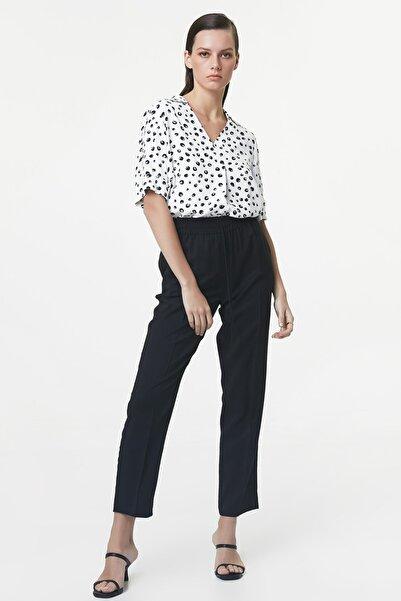 İpekyol Kadın Siyah Lastik Bel Pantolon IS1200003179001