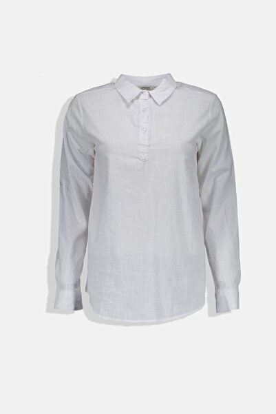 Collezione Kadın Beyaz Regular Bluz