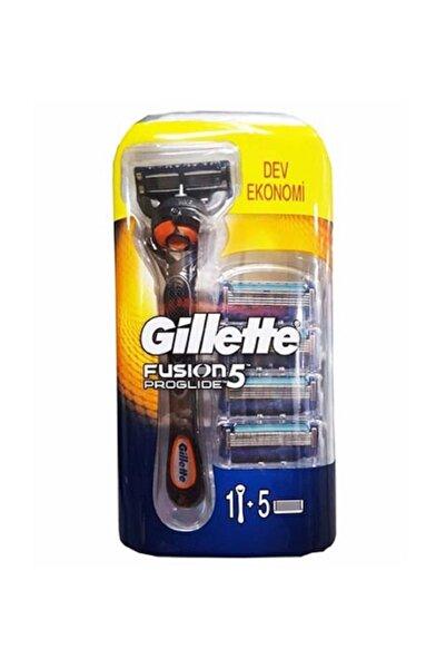 Gillette Fusion5 Proglide Makina + 5 Yedek Traş Bıçağı Hediyeli