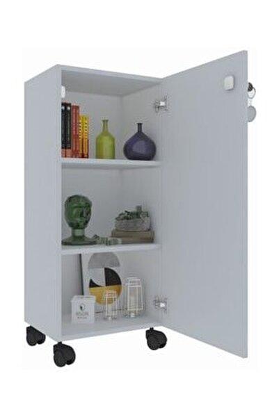 Mutfak Dolabı Zehra 088*030*032 Kilitli Tekerlekli Banyo Evrak Ofis Kitaplık Ayakkabılı