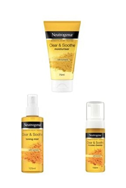 Soothing Clear Köpük 150 Ml +soothing Clear Nemlendirici 75 Ml+soothing Clear Tonik 125