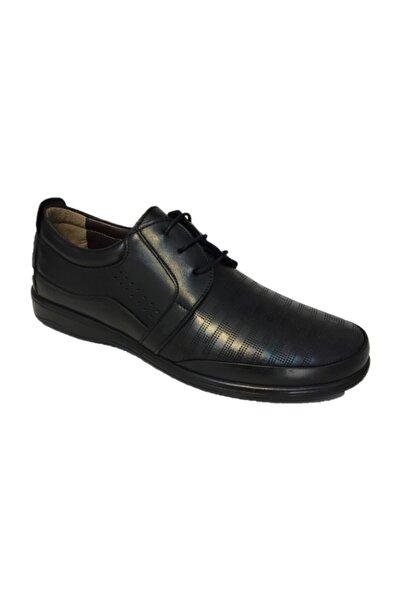 Sahra Erkek Siyah Hakiki Deri Klasik Ayakkabı