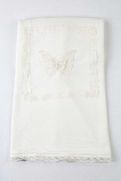 Modakids Beyaz 85X85 cm Bebek Kundak Battaniye