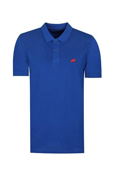 Twn Saks Mavi Renk Erkek  T-shirt (Slim Fit)