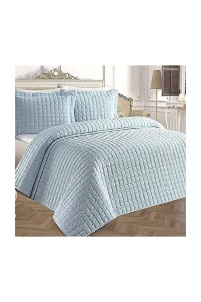 Liya Pamuklu Yatak Örtüsü * Mavi