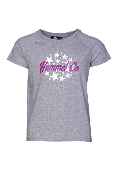 HUMMEL KIDS Gri Kız Çocuk Marılene Kısa Kollu Tişört