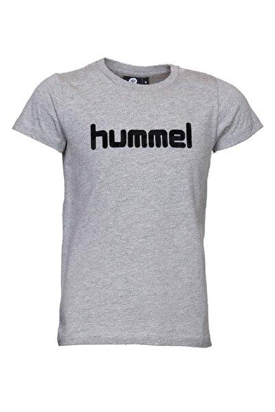 HUMMEL KIDS Gri Kız Çocuk Mota Kısa Kollu Tişört