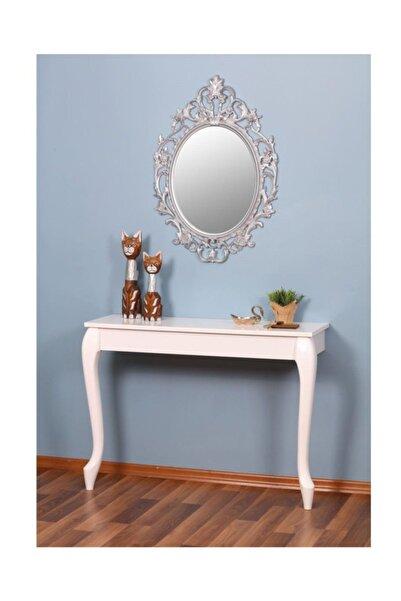 EraHome Aynalı Dresuar Beyaz - Gümüş