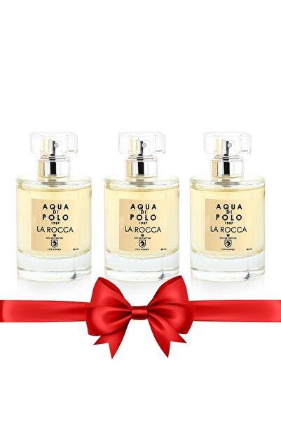 Aqua Di Polo 1987 STCC000201 La Rocca EDP 50 ml x 3 Set Kadım Parfüm