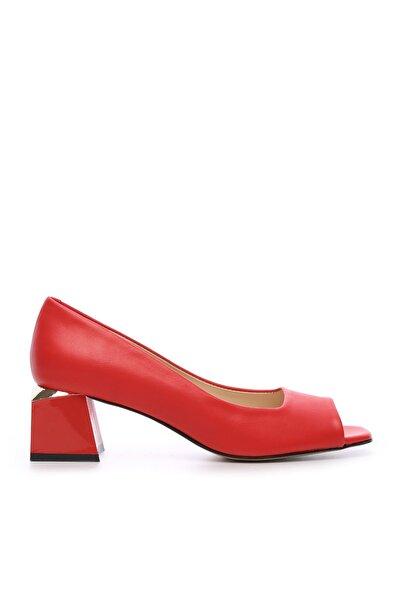 KEMAL TANCA Kırmızı Kadın Vegan Abiye Ayakkabı 22 6292 BN AYK Y19