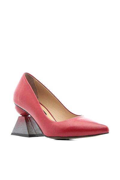 İLVİ Nikol Kadın Topuklu Ayakkabı Kırmızı Deri Nikol-2661-20.1253
