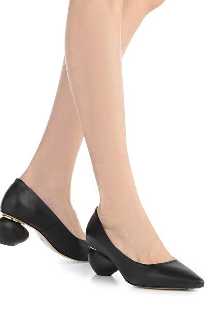 İLVİ Kadın Topuklu Ayakkabı Siyah Deri Ecco-4088.1001