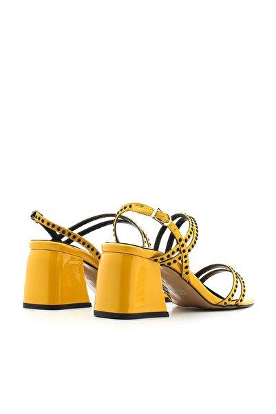 Trol Kadın Sandalet Sarı Saten Trol-4080.0093