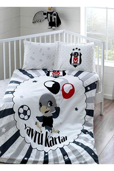 Taç Lisanslı Bebek Nevresim Takımı Bjk Beşiktaş Balloon Baby