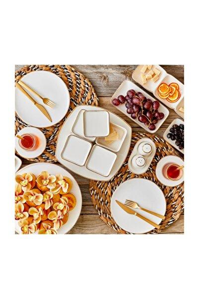 Bella Maison Allure Beyaz Kapaklı Kahvaltılık