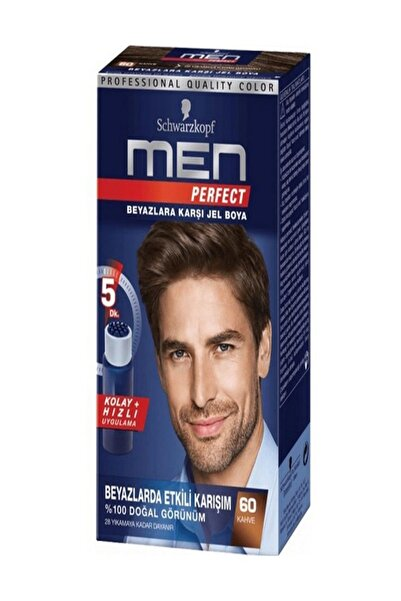 SCHWARZKOPF HAIR MASCARA Men Perfect 60 Kahve Saç Boyası