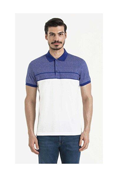 Hatemoğlu Desenli Polo Yaka Beyaz  T-shirt 35362018C004