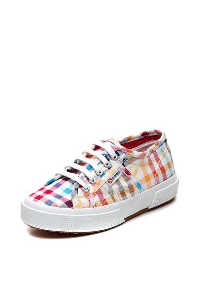 Superga Beyaz Kız Çocuk Keten Ayakkabı