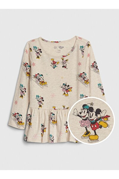 Kız Bebek Disney Minnie Mouse Peplum T-Shirt
